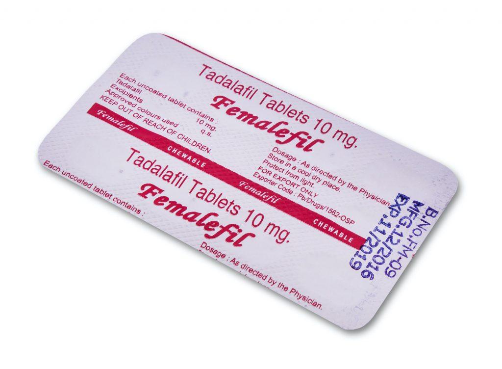 placa de tabletas de femalefil (Tadalafil)