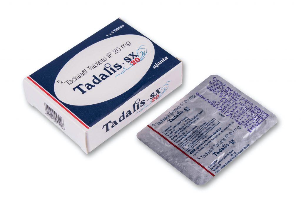 en la foto: empaque de tabletas Tadalis
